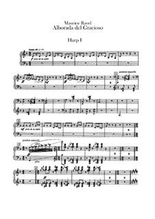 Отражения для оркестра, M.43a: Часть IV Альборада – партии арф by Морис Равель