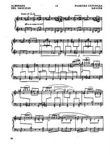 Отражения. Сюита для фортепиано, M.43: Часть IV Альборада by Морис Равель