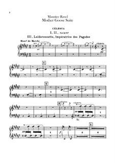 Матушка Гусыня. Сюита, M.60: Для оркестра – партия челесты by Морис Равель