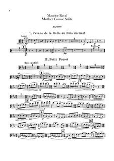 Матушка Гусыня. Сюита, M.60: Для оркестра – партия альтов by Морис Равель