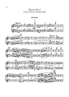 Благородные и сентиментальные вальсы, M.61: Партии гобоев и английского рожка by Морис Равель