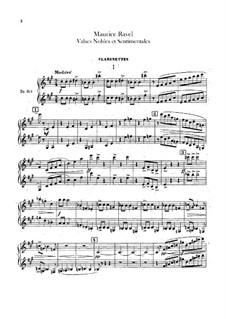 Благородные и сентиментальные вальсы, M.61: Партия кларнетов by Морис Равель