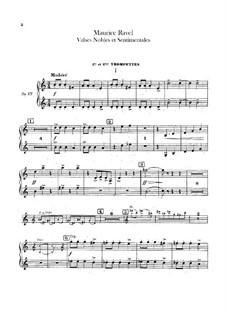 Благородные и сентиментальные вальсы, M.61: Партия первой и второй труб by Морис Равель