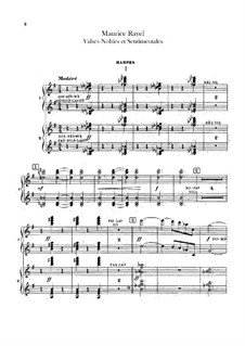 Благородные и сентиментальные вальсы, M.61: Партия арф by Морис Равель