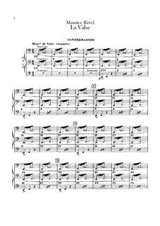 Вальс. Хореографическая поэма для оркестра, M.72: Партия контрабасов by Морис Равель