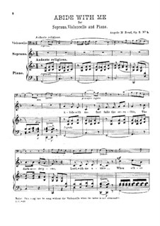 Abide with Me, for Soprano, Cello and Piano, Op.2 No.1: Abide with Me, for Soprano, Cello and Piano by Angelo Read