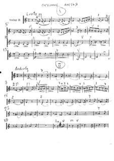Осенние листья: Партитура для струнного оркестра – Партия второй скрипки by Владимир Ребиков