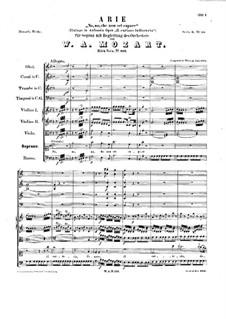 No, che non sei capace, K.419: No, che non sei capace by Вольфганг Амадей Моцарт