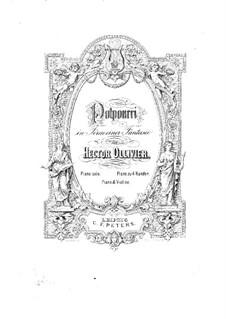 Попурри на темы из оперы 'Фауст' Гуно: Партитура для скрипки и фортепиано by Саломон Ядассон