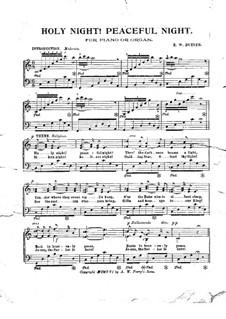 Тихая ночь, дивная ночь, для одного инструмента: Для фортепиано (или органа) by Франц Ксавьер Грубер