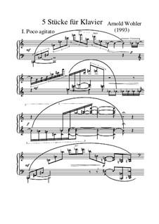 Fünf Stücke für Klavier, Op.3/3: Fünf Stücke für Klavier by Arnold Wohler