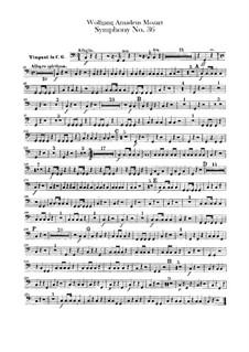 Симфония No.36 до мажор, K.425: Партия литавр by Вольфганг Амадей Моцарт