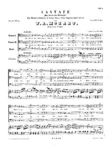 Dir, Seele des Weltalls. Kantate, K.429: Dir, Seele des Weltalls. Kantate by Вольфганг Амадей Моцарт