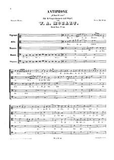 Cibavit eos. Antiphon, K.44: Cibavit eos. Antiphon by Вольфганг Амадей Моцарт