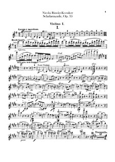Партии: Партия первой скрипки by Николай Римский-Корсаков