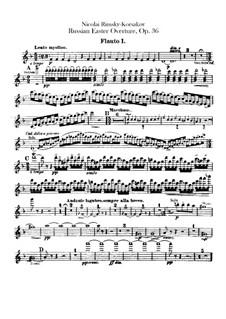 Светлый праздник, Op.36: Партии флейт by Николай Римский-Корсаков