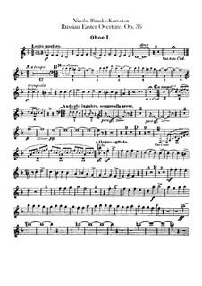 Светлый праздник, Op.36: Партии гобоев by Николай Римский-Корсаков