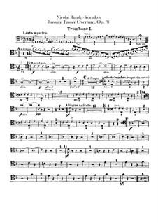 Светлый праздник, Op.36: Партии тромбонов и тубы by Николай Римский-Корсаков