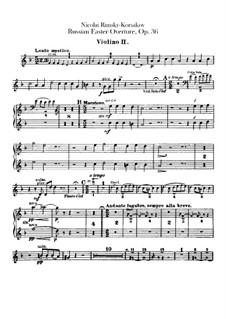 Светлый праздник, Op.36: Скрипка II by Николай Римский-Корсаков