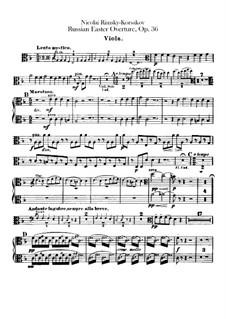 Светлый праздник, Op.36: Партия альта by Николай Римский-Корсаков