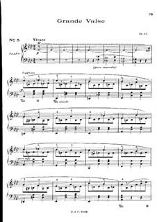 Вальс ля-бемоль мажор, Op.42: Для фортепиано by Фредерик Шопен