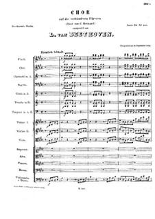 Chor auf die verbündeten Fürsten (Choir for the Allied Princes), WoO 95: Chor auf die verbündeten Fürsten (Choir for the Allied Princes) by Людвиг ван Бетховен