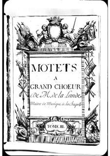 Мотеты (Коллекции): Сборник III by Мишель Ришар де Лаланд