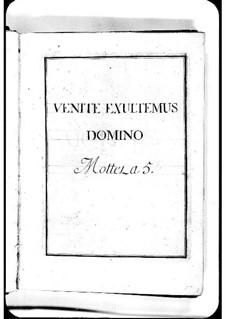 Venite exultemus Domino: Venite exultemus Domino by Мишель Ришар де Лаланд