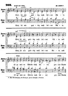 Gott, sei mir gnädig: Singpartitur by Эдуард Роде