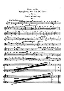 Симфония No.3 ре минор: Партии арф by Густав Малер