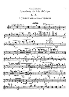 Симфония No.8 ми-бемоль мажор: Партии флейт by Густав Малер
