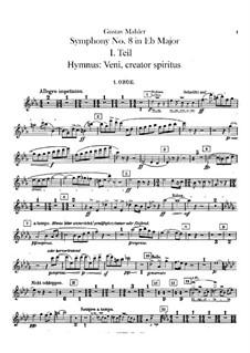 Симфония No.8 ми-бемоль мажор: Партии гобоев и английского рожка by Густав Малер
