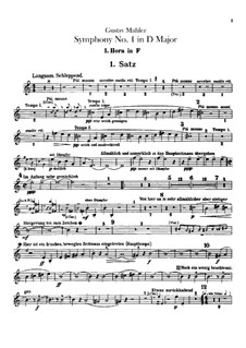 Симфония No.1 ре мажор 'Титан': Партии валторн by Густав Малер