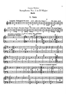 Симфония No.1 ре мажор 'Титан': Партия арфы by Густав Малер