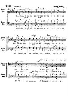 Requiem aeternam dona eis: Вокальная партитура by Карл Людвиг Хельвиг