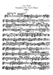 Симфония No.4 соль мажор: Партии гобоев или английского рожка by Густав Малер