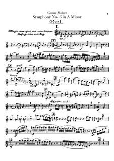 Симфония No.6 ля минор 'Трагическая': Партии гобоев и английского рожка by Густав Малер