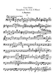 Симфония No.6 ля минор 'Трагическая': Партии ударных by Густав Малер