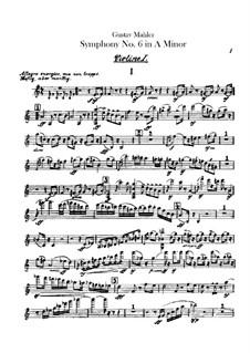 Симфония No.6 ля минор 'Трагическая': Партия первых скрипок by Густав Малер