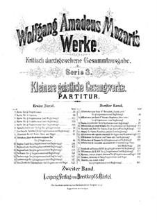 Scande Coeli Limina in C Major, K.34: Партитура by Вольфганг Амадей Моцарт