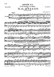 Соната для фортепиано в четыре руки си-бемоль мажор, K.358: Партии by Вольфганг Амадей Моцарт