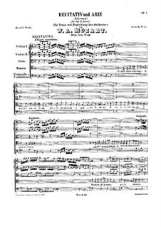 Or che il dover, K.36: Or che il dover by Вольфганг Амадей Моцарт