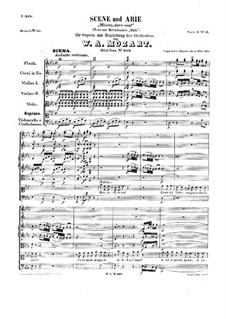 Misera, dove son, K.369: Misera, dove son by Вольфганг Амадей Моцарт