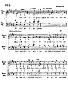 Шесть песен, Op.48 : Nr.1 Frühlingsahnung by Феликс Мендельсон-Бартольди