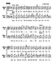 Herr ich habe lieb: Herr ich habe lieb by Иоганн Христиан Шэртлих