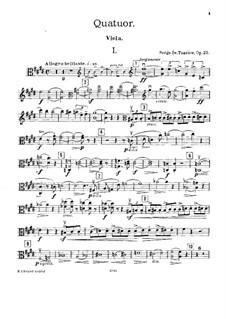 Фортепианный квартет ми мажор, Op.20: Партия альта by Сергей Танеев