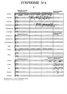 Симфония No.4 соль мажор: Партитура by Густав Малер