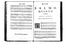 Поэтически-гармоническое вдохновение для голосов и бассо континуо: Том I. Псалм V by Бенедетто Марчелло