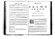 Поэтически-гармоническое вдохновение для голосов и бассо континуо: Том I. Псалм VI by Бенедетто Марчелло