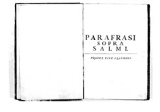Поэтически-гармоническое вдохновение для голосов и бассо континуо: Том II. Введение by Бенедетто Марчелло